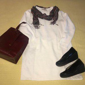 Ann Taylor LOFT White/Cream Sweatshirt Dress Sz M